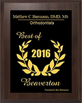 Biermann Orthodontics Best Orthodontist of 2016 in Beaverton Oregon